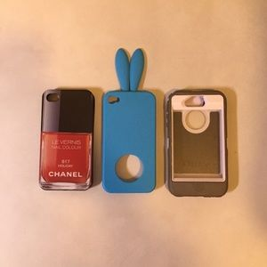 Accessories - iPhone 4 cases (comes with all 3)